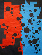Black Tapestries - Textiles Prints - Duplicity Print by Teddy Campagna