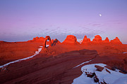 Laps Prints - Dusk at Delicate Arch Print by Keith Kapple