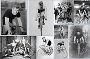 Bobby Clarke Framed Prints - Early 20th Century Bike Racers  Framed Print by Don Struke
