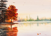 Michelle Wiarda - Early Autumn Reflections Watercolor...