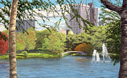 Charles River Painting Posters - Early Color on Esplanade Poster by William Frew