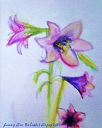Easter Flowers Pastels Prints - Easter Lilies Print by Jamey Balester