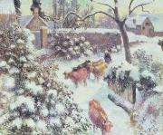 Camille Pissarro - Effect of Snow at Montfoucault