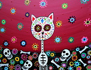 Pristine Cartera Turkus - El Gato Day Of The Dead