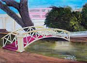 Puerto Rico Paintings - El Parterre in Aguadilla PR by Gloria E Barreto-Rodriguez