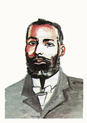 Railroads Drawings Framed Prints - Elijah McCoy Framed Print by Emmanuel Baliyanga