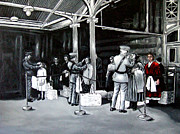 Mafia Paintings - Ellis Island by David Tuminello