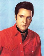 The King Glass Art - Elvis by Lance  Kelly