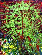 Abstract Wildlife Paintings - Emerald Web by April Brosemann