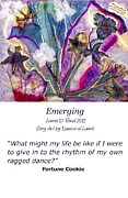 Realization Digital Art - Emerging Notecard by Laurel D Rund