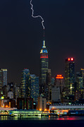 Clarence Holmes - Empire State Building Lightning Strike I