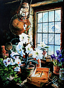 Garden Paintings  - Encouraging Springtime by Hanne Lore Koehler