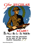 Patriotic Mixed Media - Enlist For The Infantry by War Is Hell Store