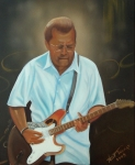 Blues Painting Originals - Eric Clapton by Helen Thomas