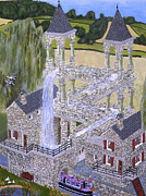 Ellenisworkshop Paintings - Eschers Mill Landscaped and painted by Eric Kempson by Eric Kempson