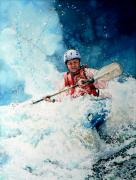 Sports Art Paintings - Eskimo Rolls by Hanne Lore Koehler