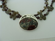 Gray Jewelry Originals - Eudulite Flowers by Beverly Fox