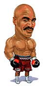 Boxing Paintings - Evander Holyfield by Art