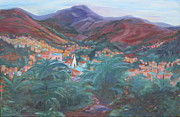 Guanajuato Paintings - Evening in Guanajuato by Sally Fraser