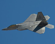 Usaf Prints - F-22 Lightning 2 fighter Print by Tim Mulina