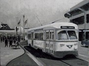 Tram Originals - F  Tram  Embarcadero by Robert Rohrich