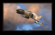 Airplane Poster Prints - F4 Phantom Air Force Print by Larry McManus