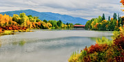 Clark Fork - Id - Fall Color at Sand Creek by Albert Seger