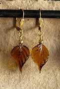 Daytime Jewelry - Fall Leaves by Jan  Brieger-Scranton