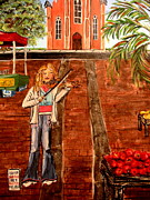 Peanuts Paintings - Farmers Market Fiddler by Lyn Calahorrano