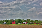 Outbuildings Digital Art Prints - Farming the Delta 001 Print by Barry Jones