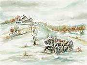 Samuel Showman - Farmstead On A Hill In Winter