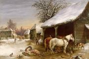 Henry Woollett - Farmyard in Winter