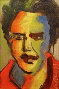 Elvis Presley Painting Originals - Fauvist Elvis by Les Leffingwell
