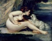 Gustave Courbet - Female Nude with a Dog