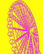 Ramona Johnston - Ferris Wheel Silhouette Yellow Pink