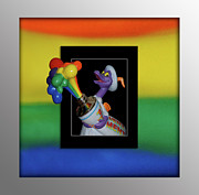 3d World Prints - Figments Rainbow of Colors Print by Thomas Woolworth