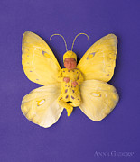 Down Photo Posters - Fiona Butterfly Poster by Anne Geddes