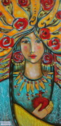Visionary Art Painting Framed Prints - Fire of the Spirit Framed Print by Shiloh Sophia McCloud