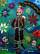 Pristine Cartera Turkus - Firefighter Day Of The Dead