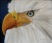 Bravery Prints - Firemens Eagle Print by Yvonne Knight