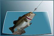 Bass Digital Art - Fish Mount Set 13 D by Thomas Woolworth
