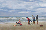 Fishing At The Beach Fine Art Print by Norman Drake