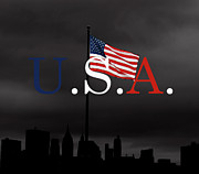 U.s.a. Flag Photos - Flag Over NYC by La Dolce Vita