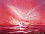 Sunsets Original Paintings - Flight at Sunset by Gina De Gorna