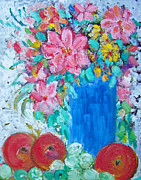 Patricia Taylor - Flowers and Fruit with Lacy Curtains