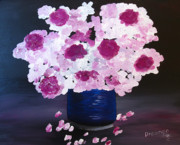 Sherry Haney - Flowers in Blue Vase