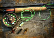 Sandra Cunningham - Fly fishing rod with polaroids pictures...
