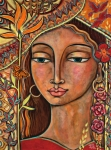 Woman Paintings - Focusing On Beauty by Shiloh Sophia McCloud