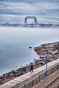 Duluth Photos - Foggy Lake Superior Afternoon by Shutter Happens Photography