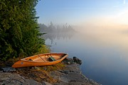 Larry Ricker - Foggy Morning on Spice Lake